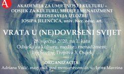 Izložba studenta Josipa Jelenčića Vrata u (ne)dovršeni svijet