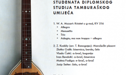 Diplomski koncert komornog sastava studenata diplomskog studija Tamburaško umijeće