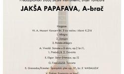 Jakša Papafava, A-brač – završni koncert