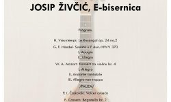 Josip Živčić, E-bisernica, završni koncert