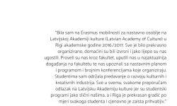 Doc. dr. sc. Marta Borić Cvenić – Erasmus+ Latvian Academy of Culture Riga, Latvia