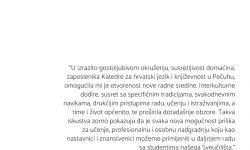 Doc. dr. sc. Tatjana Ileš – Erasmus+ na Filozofskom fakultetu, Institutu za slavistiku u Pečuhu, Mađarska